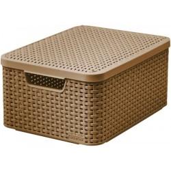 Koszyk z pokrywką CURVER brązowy Style M