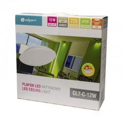 Plafon natynkowy, IP20, 12 W, 720 lm, 4000 K, okrągły, biały