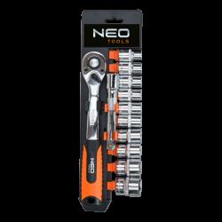 "NEO 08-653 Klucze nasadowe 3/8"", zestaw 12 szt."