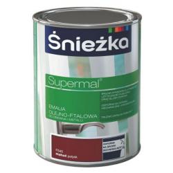 Emalia olejno-ftalowa Supermal mahoń połysk 0,8 L