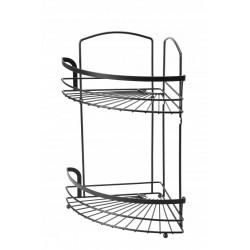 Półka łazienkowa narożna 2 poziomowa BLACK GALICJA